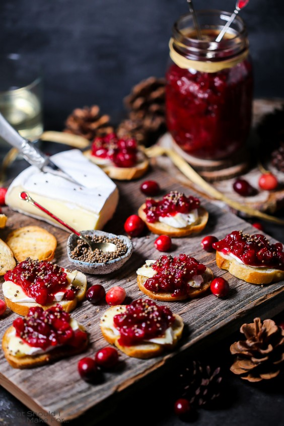 1. Cranberry Chutney and Brie Crostini