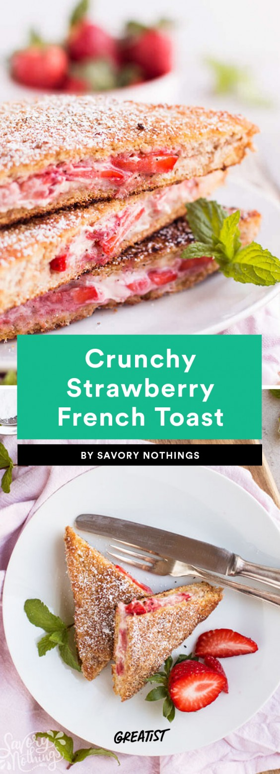 Crunchy Strawberry French Toast