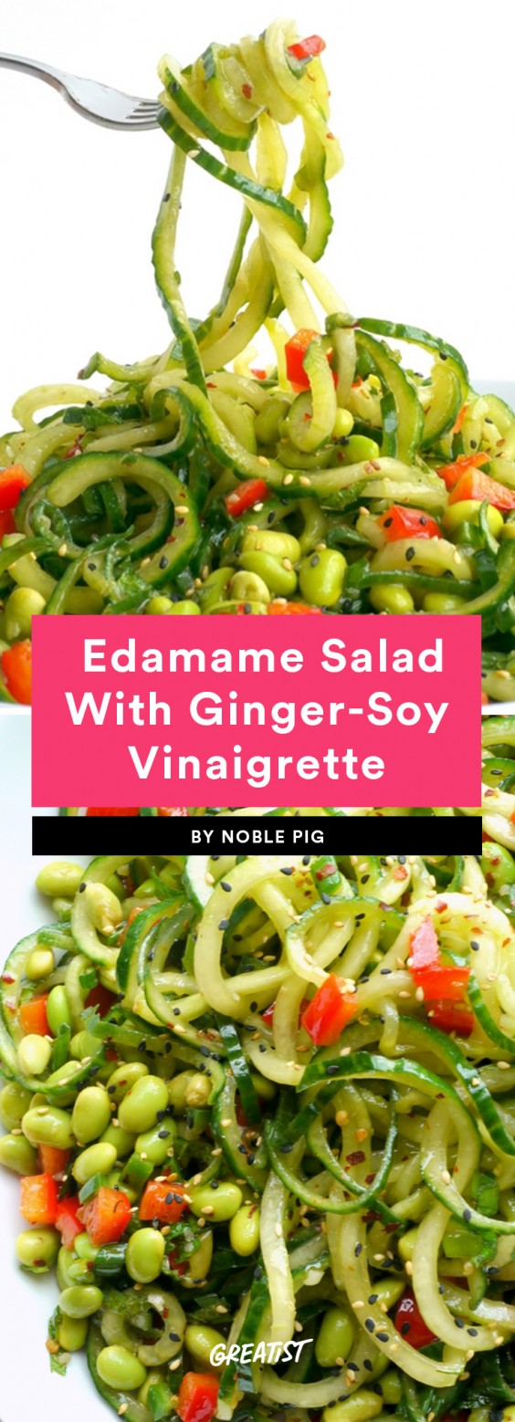 9. Cucumber Edamame Salad With Ginger-Soy Vinaigrette