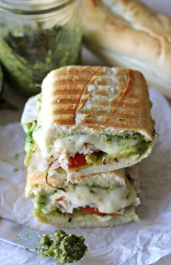 10. Leftover Thanksgiving Turkey Pesto Panini