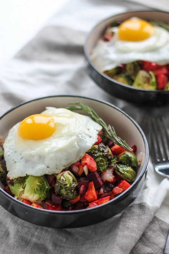 1. Rosemary Roasted Vegetable Breakfast Bowls