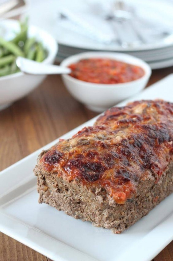8. Italian Meatloaf With Marinara Parmesan Crust