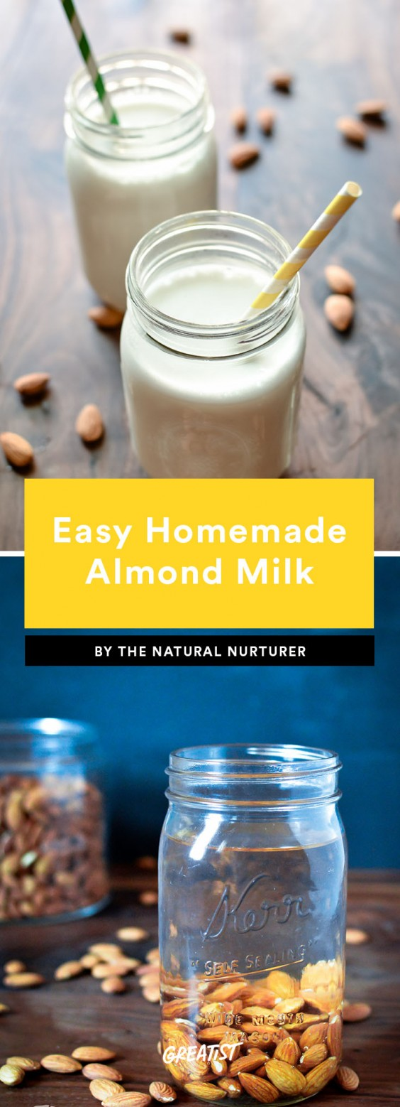 1. Ridiculously Easy Homemade Almond Milk