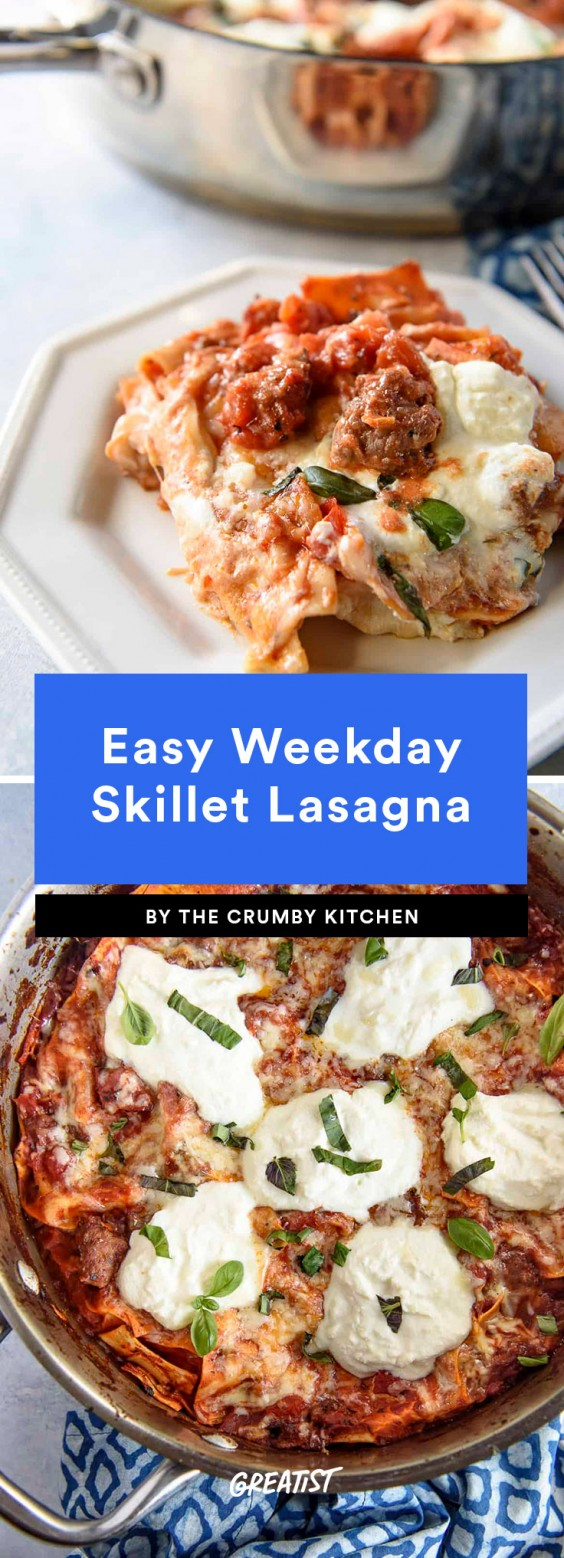 Easy Weekday Skillet Lasagna Recipe
