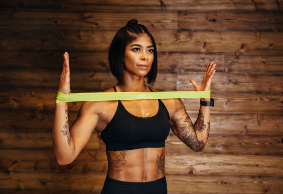 picture relating to Printable Resistance Bands Exercises identified as Resistance Band Workout routines for Your Main Against My Arias