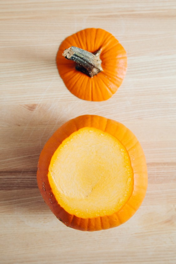 roasted pumpkin how to: step 1
