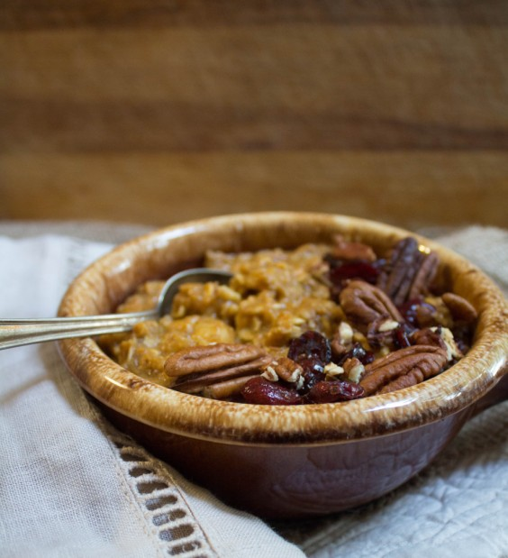 10. Pumpkin Pie Oatmeal