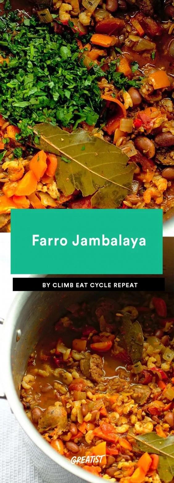 Farro Jambalaya Recipe