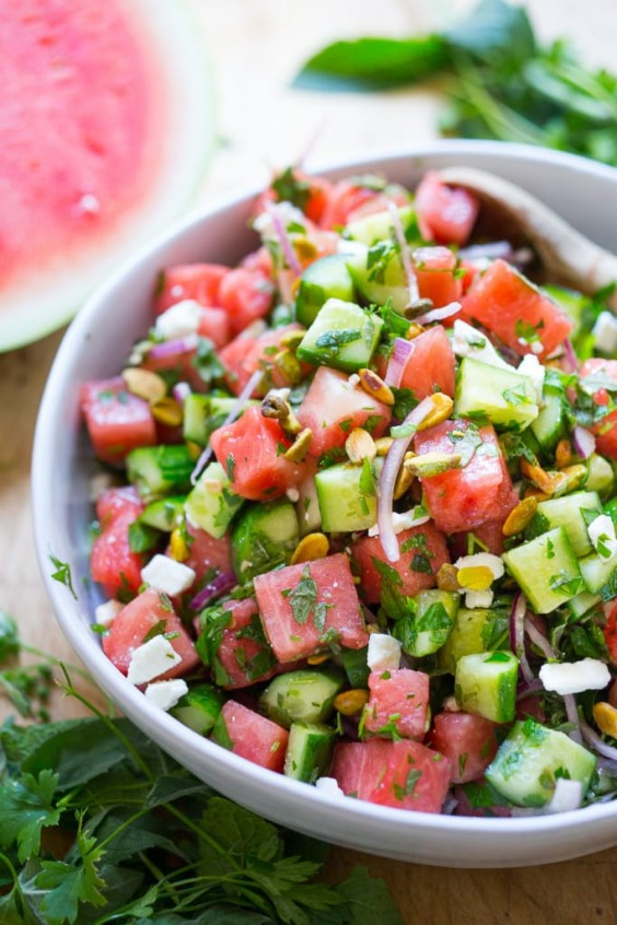 4. Moroccan Watermelon Salad With Pistachio