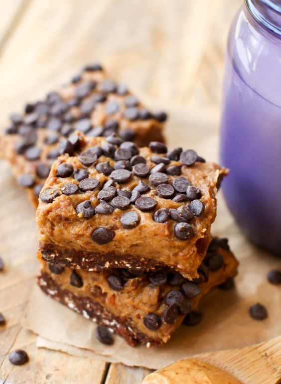 10. Chocolate Peanut Butter Cookie Dough Bars