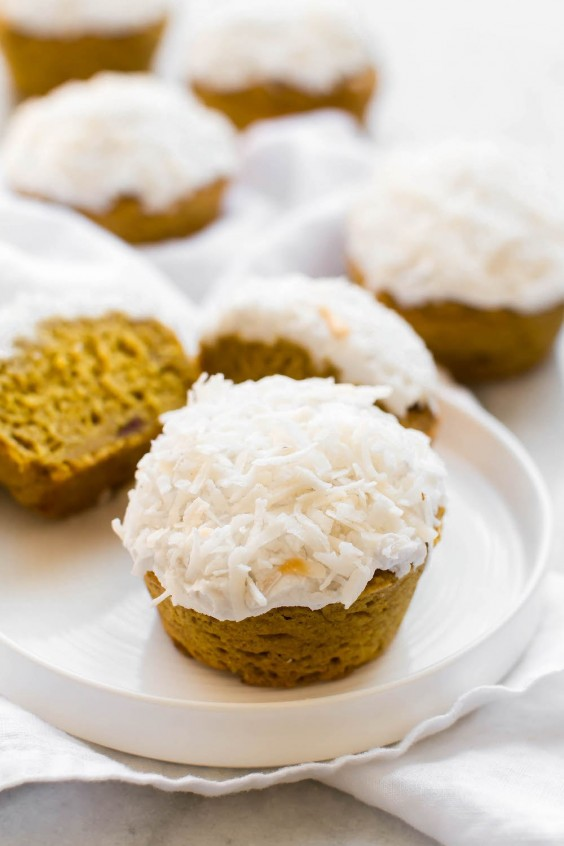 7. Pineapple Turmeric Cupcakes With Coconut Frosting