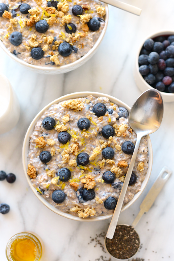 1. Blueberry Muffin Overnight Oats