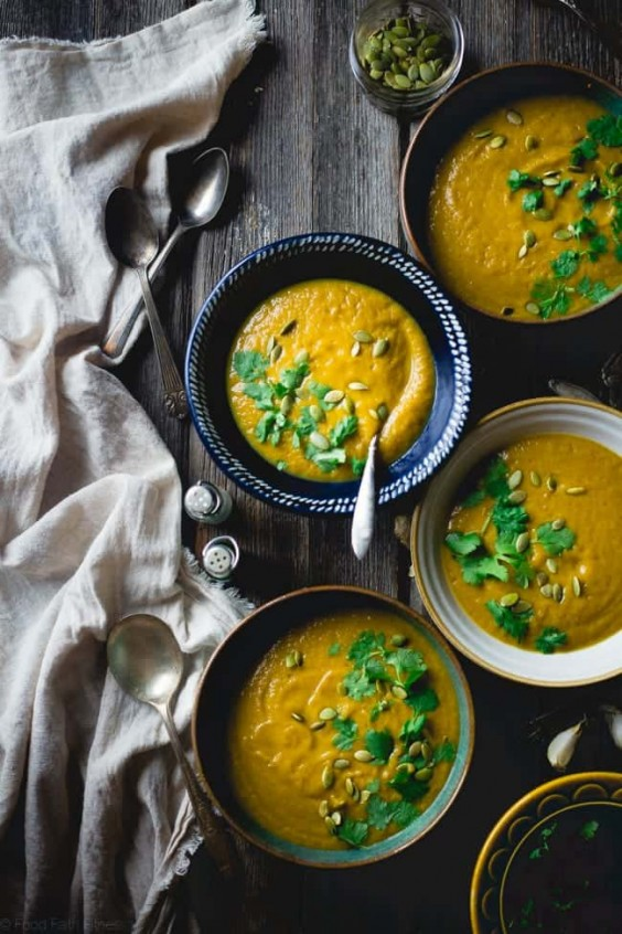 3. Moroccan Roasted Acorn Squash Soup