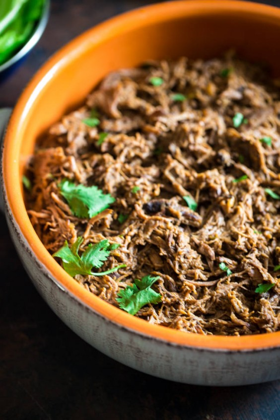 6. Shredded Crock-Pot Roast Beef With Pumpkin and Salsa