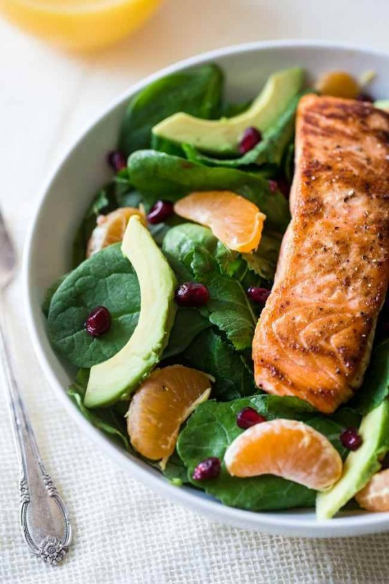 13. Superfood Salmon Salad With Coconut Orange Vinaigrette