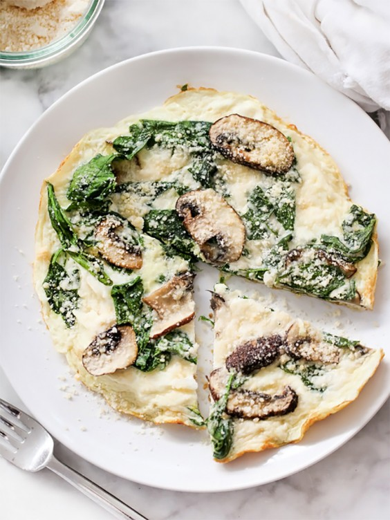 7. Spinach and Mushroom Egg White Frittata