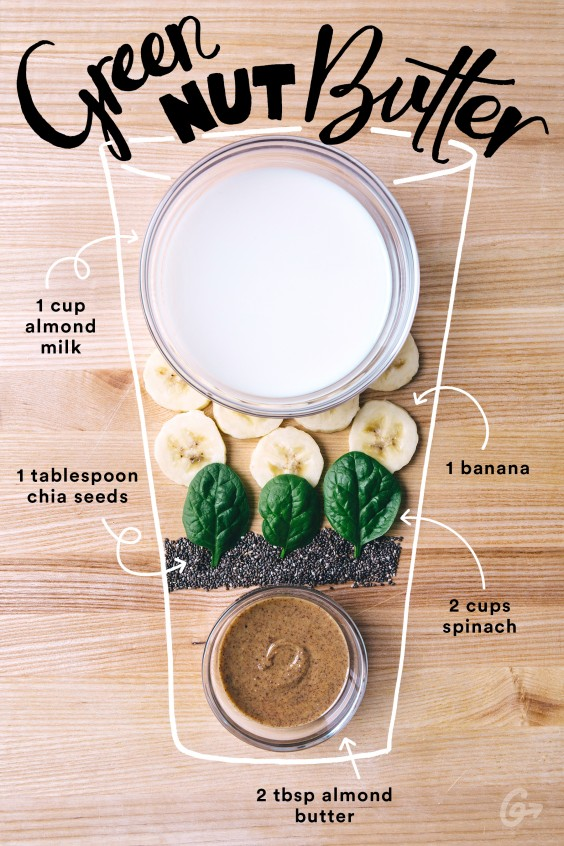 Green Nut Butter Smoothie