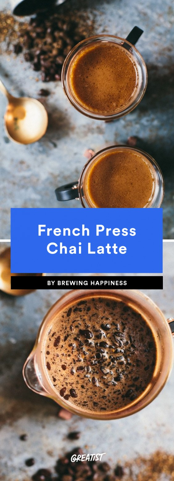 1. French Press Chai Latte