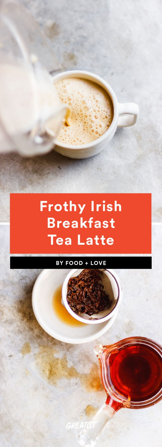 1. Frothy Irish Breakfast Tea Latte With MCT Oil