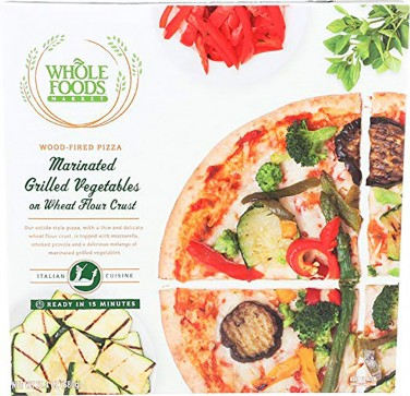 1. Whole Foods Market Marinated Grilled Vegetables on Wheat Flour Crust Wood-Fired Pizza