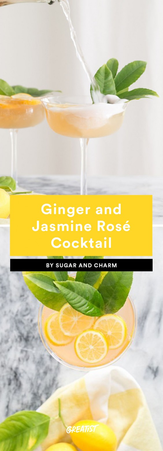 6. Ginger and Jasmine Rosé Cocktail