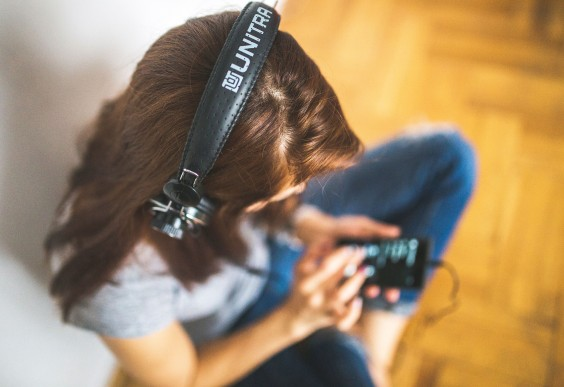 Increase Creativity: Girl Listening to Music
