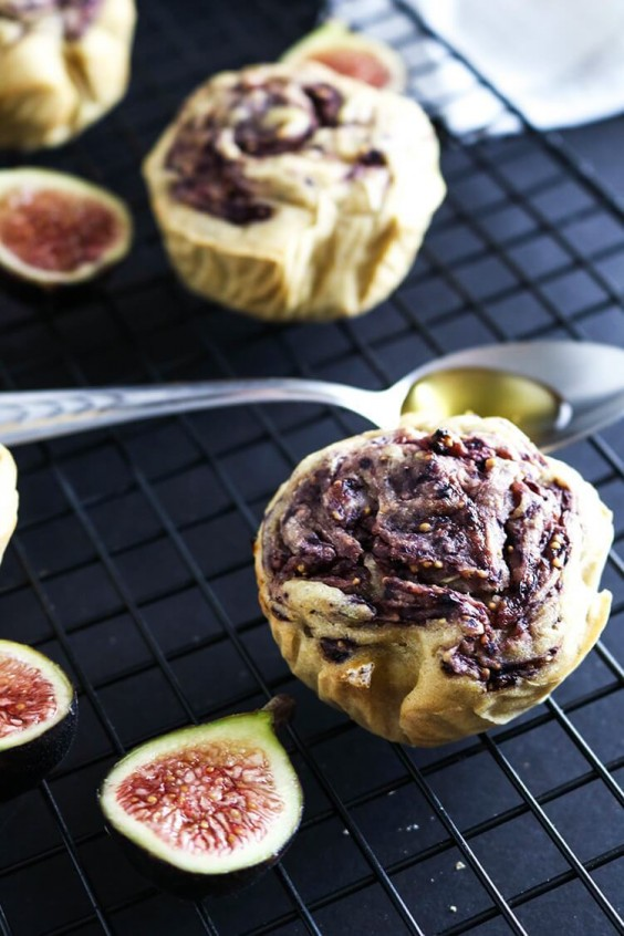 19. Goat Cheese and Fig Rosemary Muffins