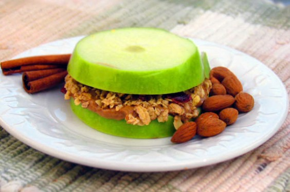 Granola Apple Sandwiches