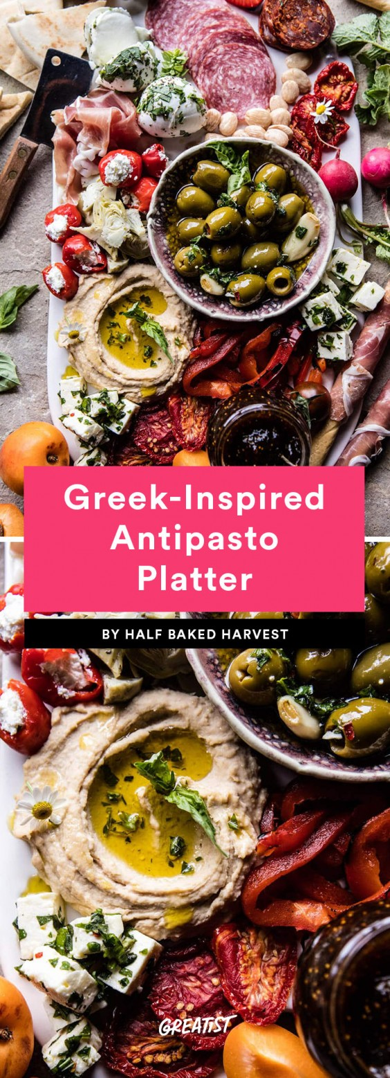 8. Greek-Inspired Antipasto Platter