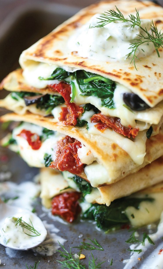 3. Greek Quesadillas