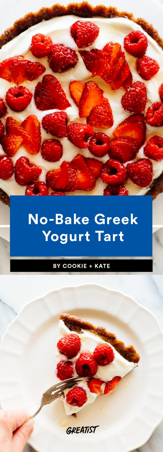 1. No-Bake Greek Yogurt Tart