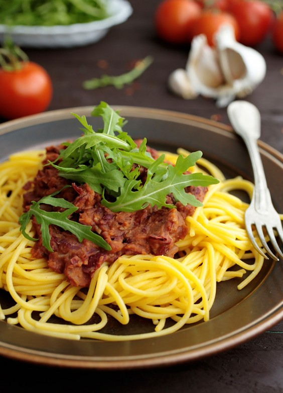 10. Pasta With Kidney Bean Sauce