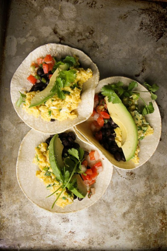 3. Breakfast Tacos With Spicy Green Onion and Cheddar Scrambled Eggs