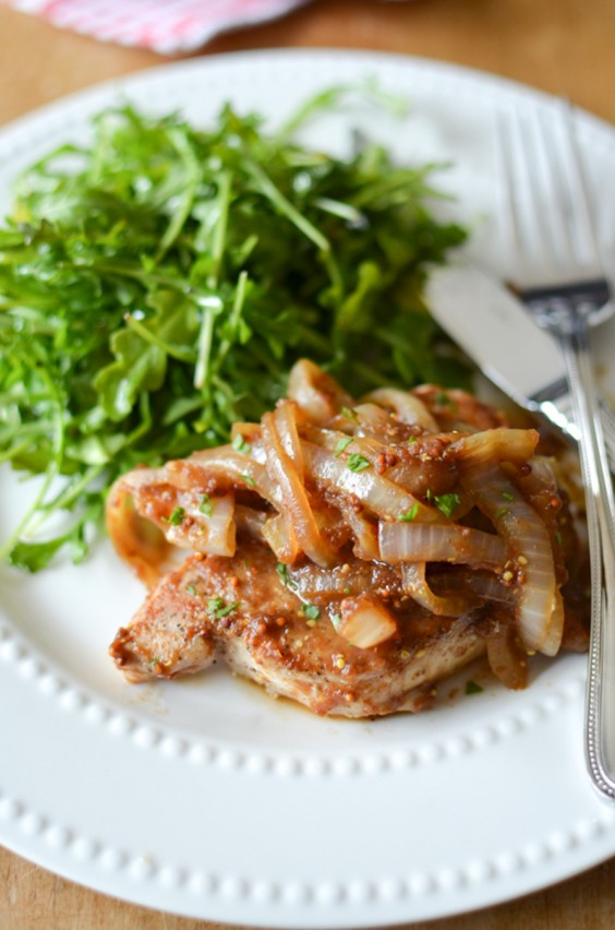 7. Slow Cooker Apple Butter Pork Chops