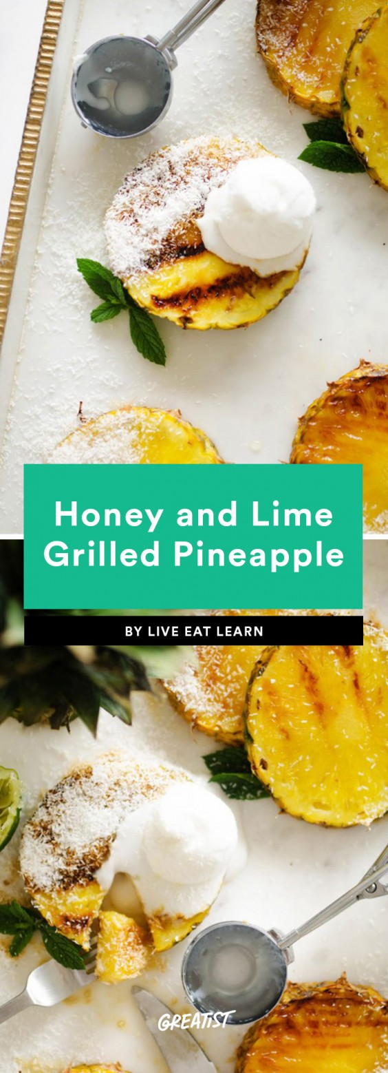 5. Honey and Lime Grilled Pineapple