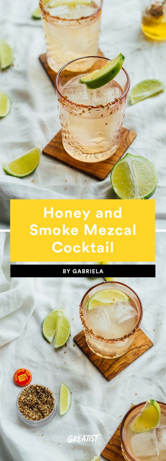 1. Honey and Smoke Mezcal Cocktail