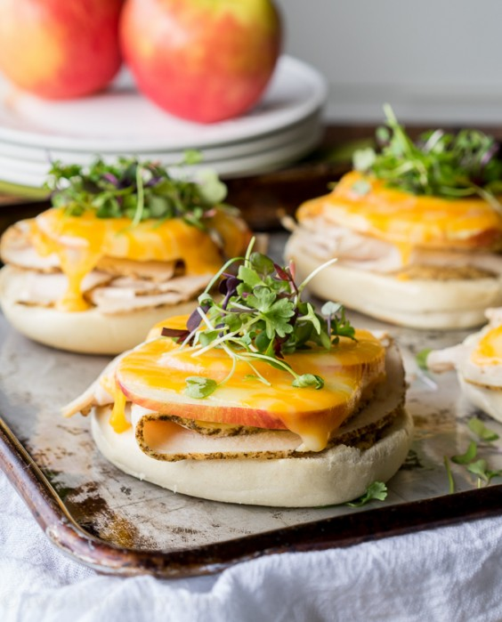 2. Turkey Apple Cheddar Bagel Melts