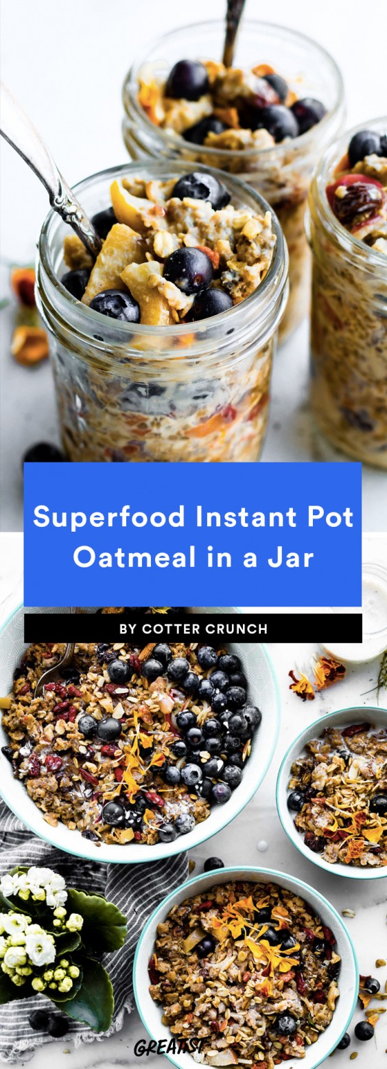 Superfood Instant Pot Oatmeal in a Jar