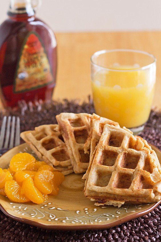 2. Whole-Wheat Blender Waffles