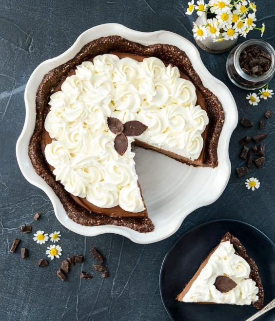 12. Healthy Chocolate Silk Pie