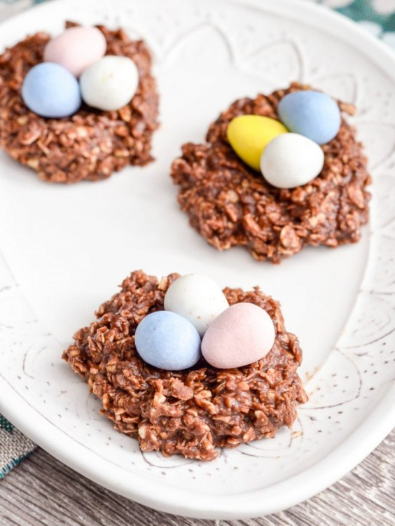 4. No-Bake Chocolate Peanut Butter Cookie Nests