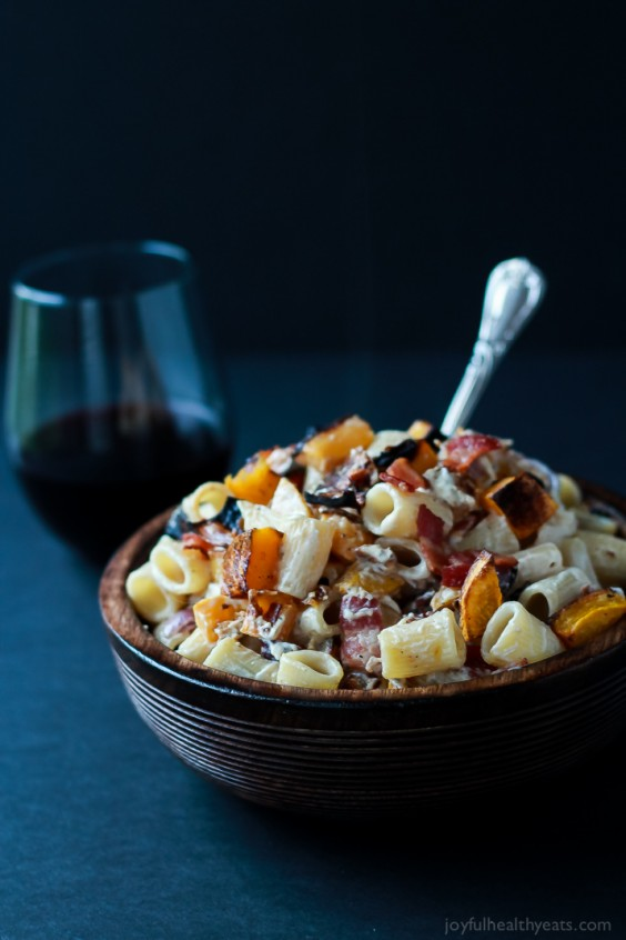21. Roasted Butternut Squash Creamy Goat Cheese Pasta