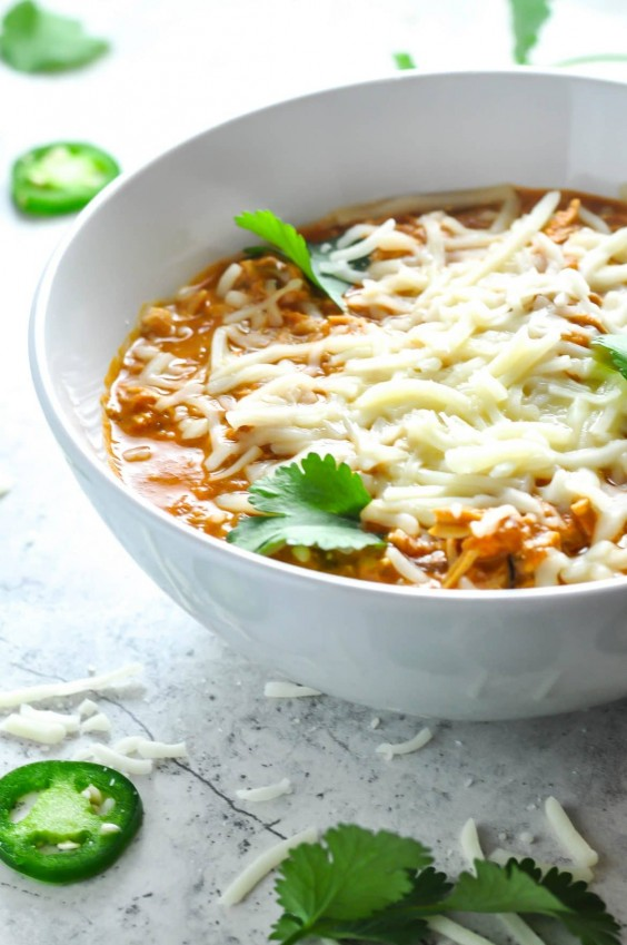 6. Shredded Chicken Chili