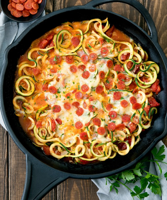 3. One-Pot Pizza Zucchini Noodles