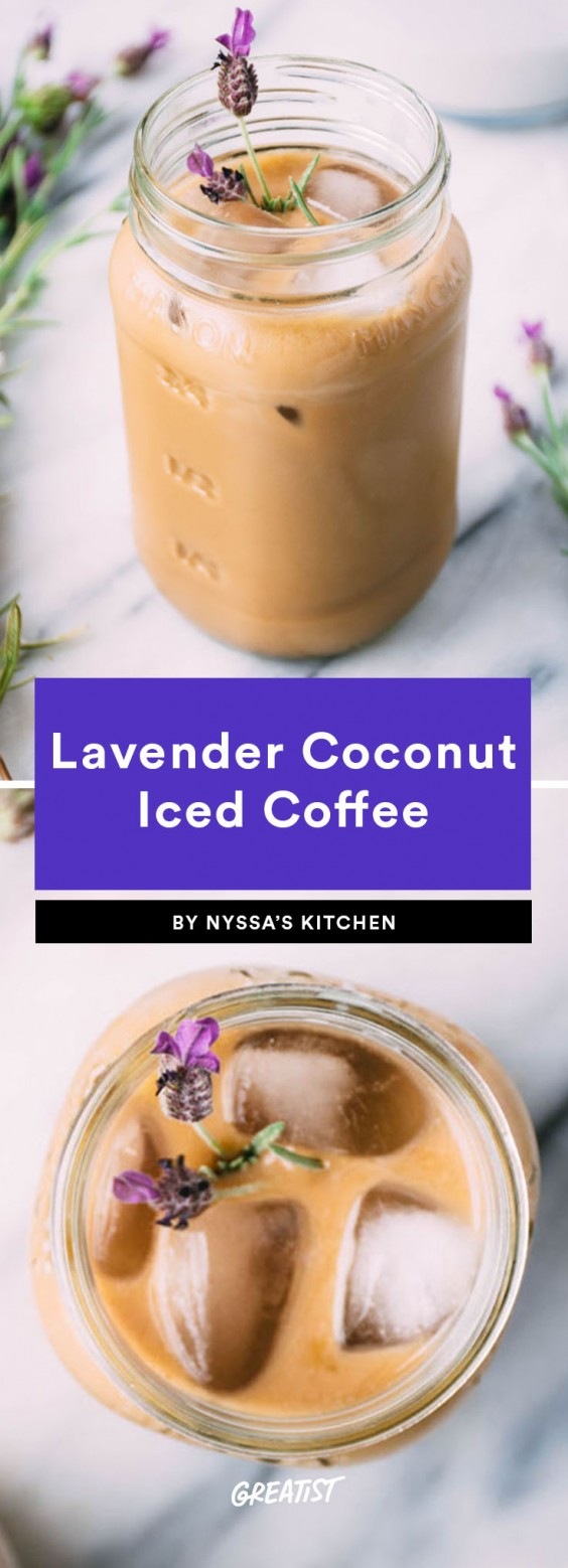 2. Easy Lavender Coconut Iced Coffee