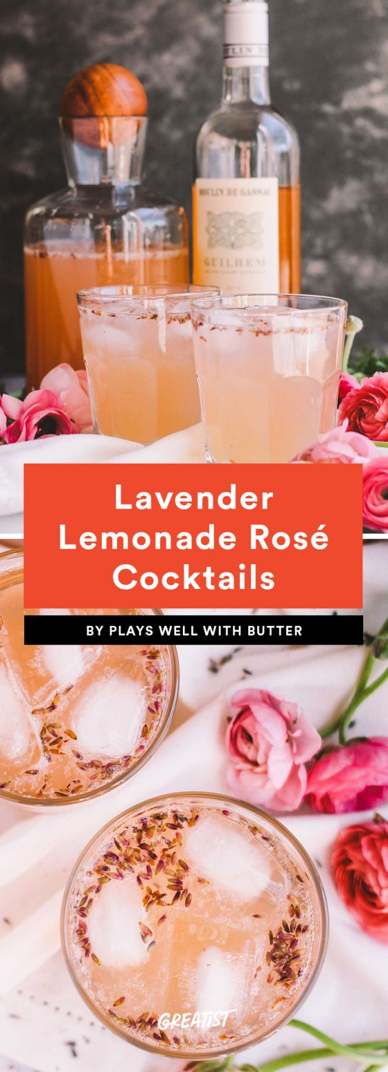 7. Lavender Lemonade Rosé Cocktails