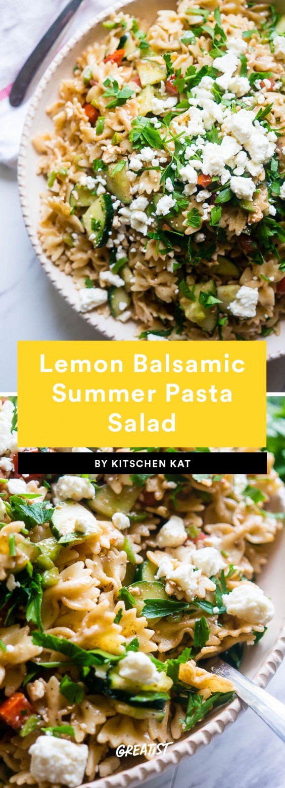 1. Lemon Balsamic Summer Pasta Salad