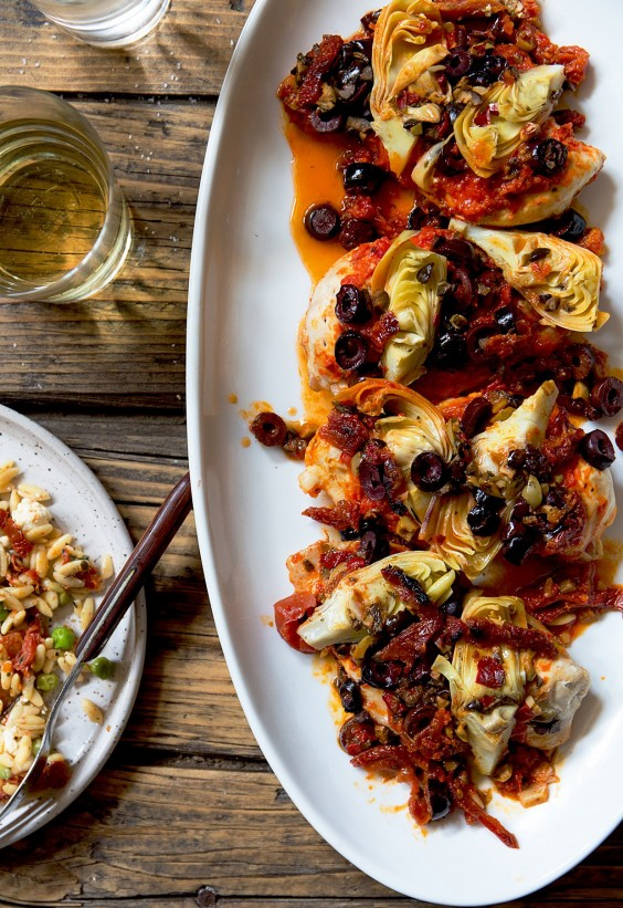 Mediterranean Chicken With Artichoke Hearts Recipe