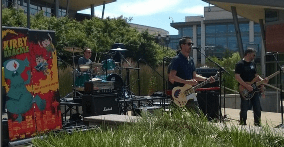 Band Performing at Microsoft Lunch