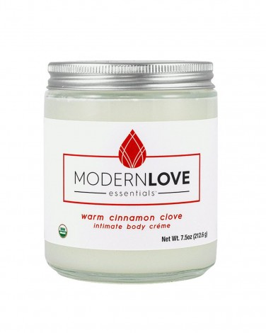 Modern Love Essentials Organic Warming Intimate Body Creme in Cinnamon and Clove